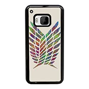 HTC One M9 Cell Phone Case Black Attack on Titan F5108988