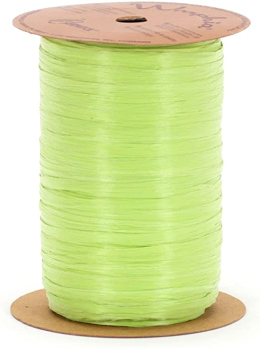 Berwick Offray Citrus Green Raffia Ribbon 1//4 Wide 100 Yards