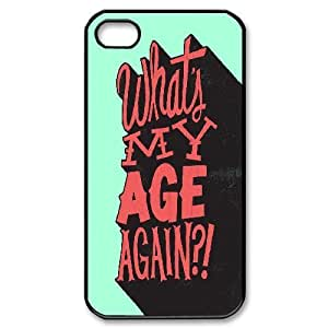[Typography Series] IPhone 4/4s Case Typography What Is My Age Again, Case For Iphone 4s Girl Nuktoe - Black by icecream design