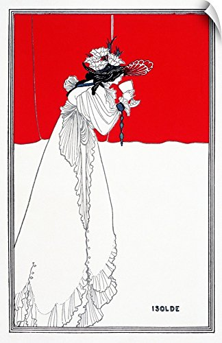 "Canvas on Demand Aubrey (1872-1898) Beardsley Wall Peel Wall Art Print entitled Isolde, 1899 16""x24"""
