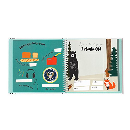 Lucy Darling Baby's First Year Memory Book: A Simple Book of Firsts - Little Animal Lover