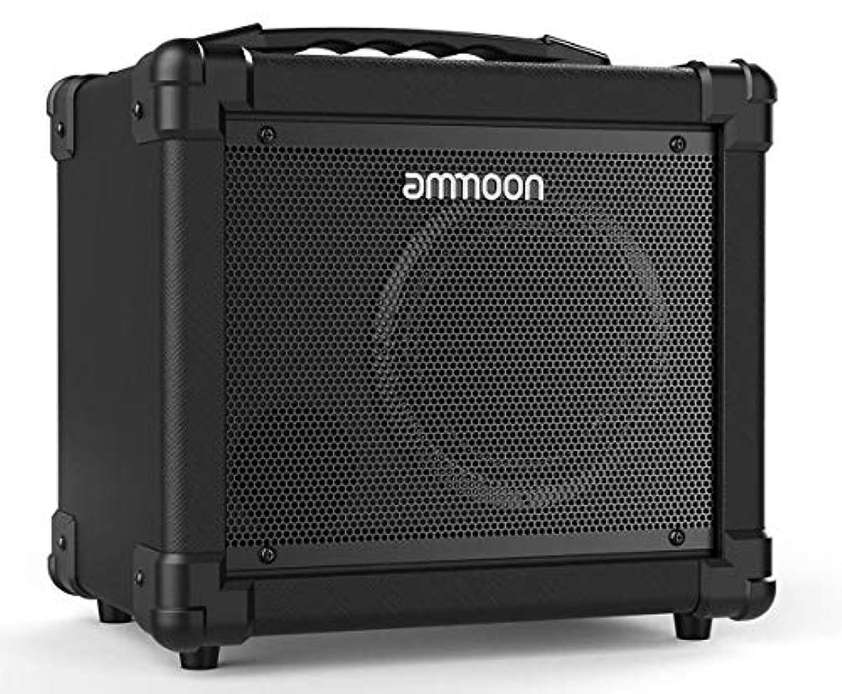 [해외] AMMOON 기타 앰프 포터블 전기 기타 앰프 서포트 클린/변형(distortion) 모드 AUX IN 게인 베이스 저음 볼륨 컨트롤 BT내장 헤드폰 단자 부착 GA-10 10W