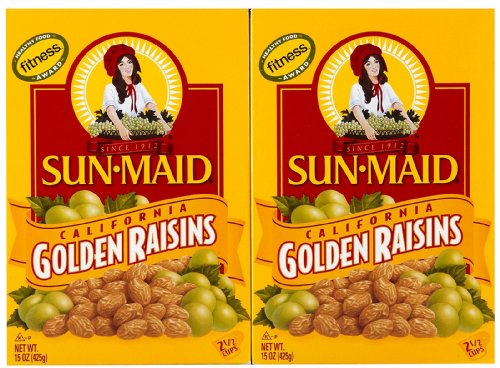 Sun Maid Golden Raisins, 15 oz, 2 pk