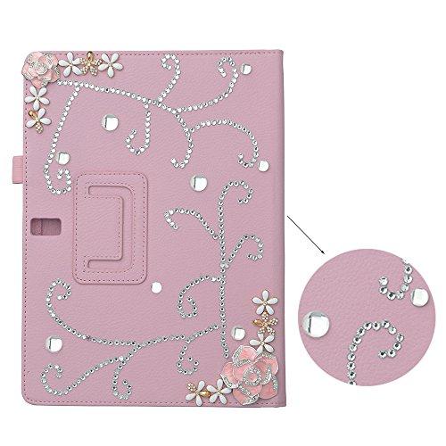 Spritech 3D Bling Flip Folio Smart Shell Case Premium PU Lea