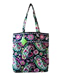 Vera Bradley Tote with Solid Color Interior (Updated Version) in Petal Paisley with Solid Pink Interior