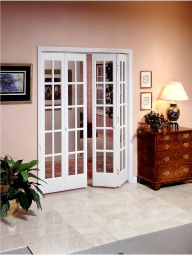 Pinecroft 852726 Traditional Divided Glass French Bifold Intior Wood ...