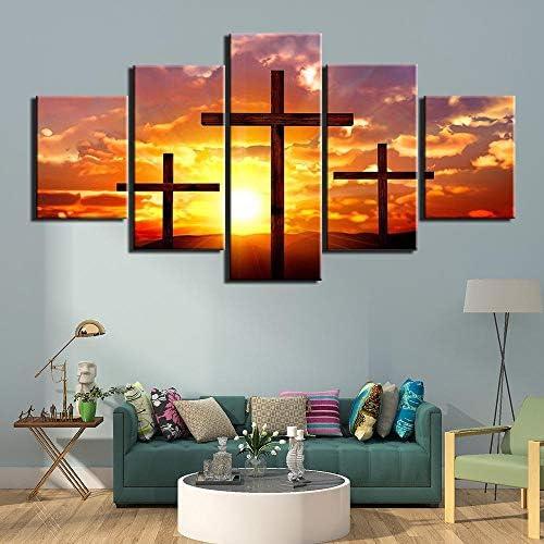 5つのパネルのポスターとプリントキャンバス絵画プリント壁アートリビングルームの装飾のキリスト教の画像30x40 30x60 30