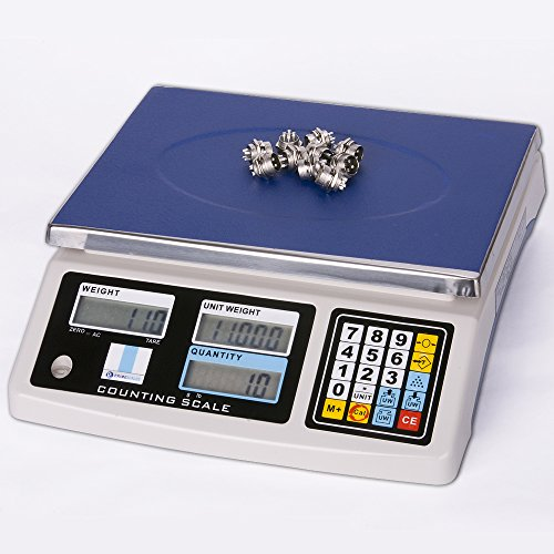 Prime Scales 66lbs / 0.002lb Basic Counting Scale with 10 Pre-sets Memory|Check Weighing by Prime Scales