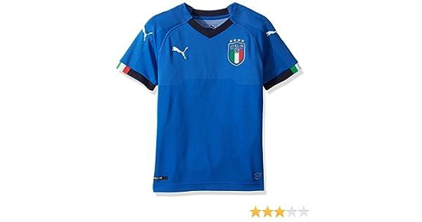 PUMA Mens FIGC Italia Kids Home Shirt Replica Jersey