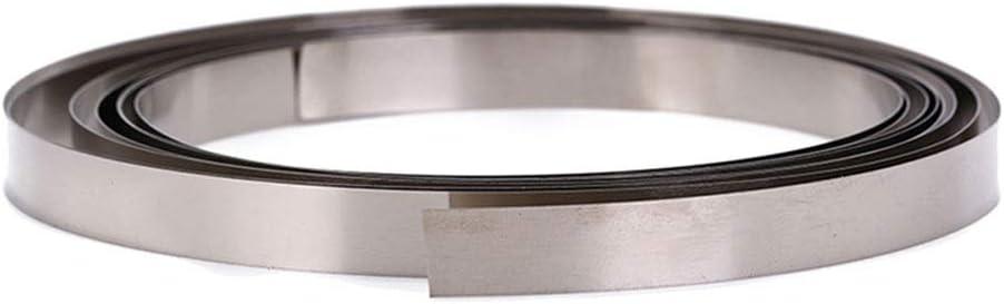 SOFIALXC Edelstahlblech Metallplatten-Thick:0.05mm Width 20mm Length:3000mm//98.4feet