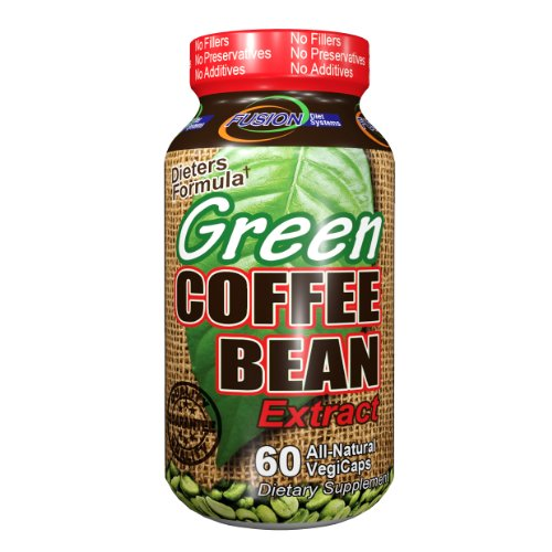 Fusion Diet Systems Diet Supplement, Green Coffee Bean Extract, 60 Count by Fusion Diet Systems
