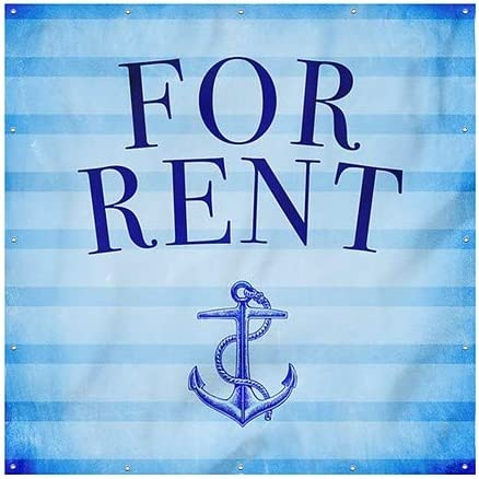 Nautical Stripes Wind-Resistant Outdoor Mesh Vinyl Banner for Rent CGSignLab 8x8