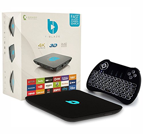 Tblaze Android TV Box Amlogic S912 Octa-core CPU 64-Bit 4K/3D/2GB/16GB AC Wireless Dual Band WiFi 2.4GHz/5GHz Ready To Stream Media Center,Keyboard Remote,Updated Version Realtime Firmware Updates by Tblaze