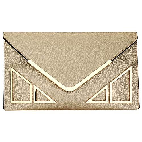 Purse KNUS Wallet Womens with Leather Off Strap Designer Clutch Envelope Crossbody White bag Evening rqrpS8