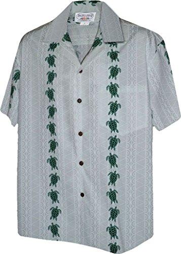 (Turtle Panel Men's Aloha Shirts White 4X (410-3832))