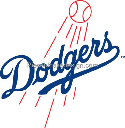 MLB Los Angeles Dodgers ~ Edible Cake Image Topper