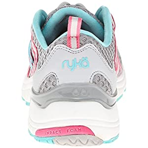 RYKA Women's Hydro Sport Water Shoe Cross-Training Shoe, Silver Cloud/Cool Mist Grey/Winter Blue/Pink, 8 M US