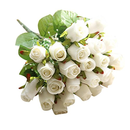 Block China Hydrangea (Artificial Flowers,Napoo 24 Heads Flannel Touch Rose Beautiful Flowers For Wedding Party Home (White))