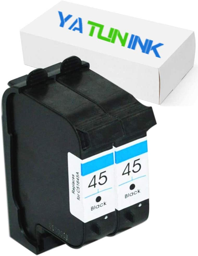 Remanufactured Ink Cartridge Replacement for HP 45 51645A (2 Black)