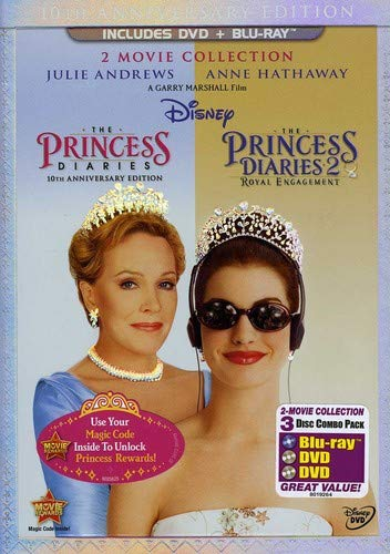 The Princess Diaries: Two-Movie Collection (Three-Disc Combo Blu-ray/DVD Combo in DVD Packaging) (Princess Movie Collection)