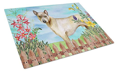 Caroline's Treasures CK1242LCB Thai Ridgeback Spring Chopping Board, Large, Multicolor by Caroline's Treasures