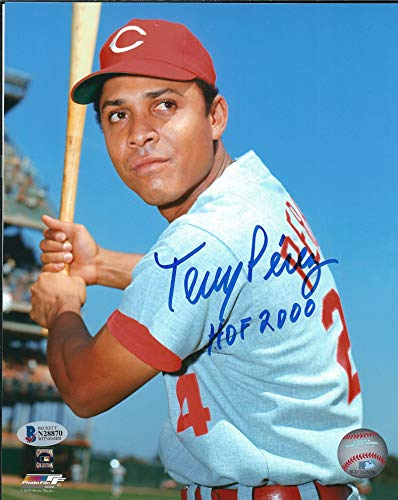 Autographed Tony Perez 8x10 Cincinnati Reds Photo Beckett COA