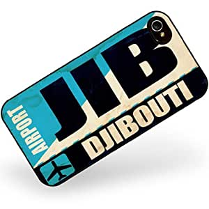 Rubber Case for iphone 4 4s Airportcode JIB Djibouti - Neonblond