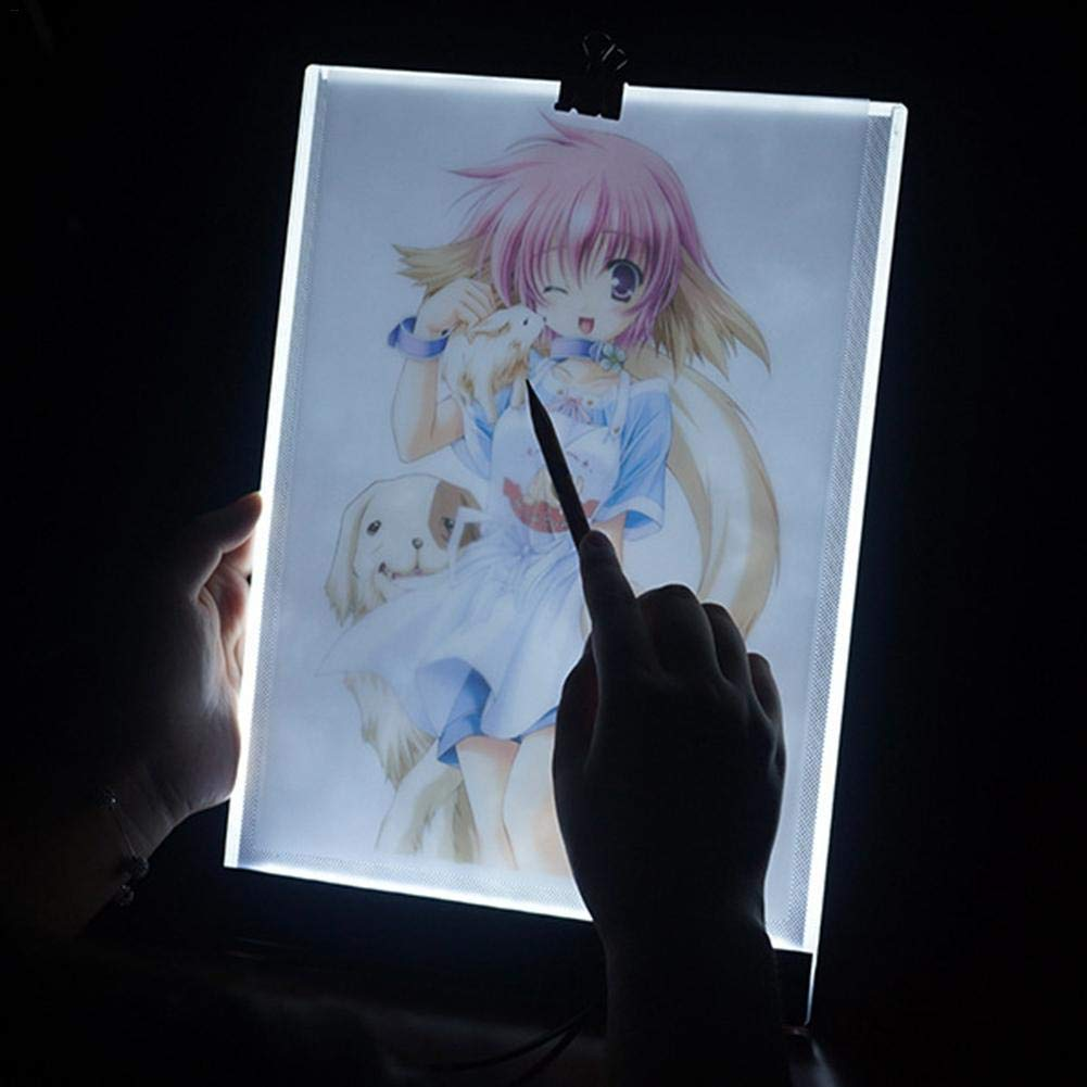 Eruditter LED Light Brillo Ajustable FACS imile Painting Tarjeta de Dimmable Ultra Thin 3.5/mm A4/Drawing Board For Drawing imitaci/ón Embroi Embroidery
