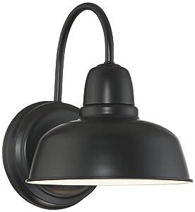 """Urban Barn 11 1/4"""" High Black Indoor-Outdoor Wall Light"""