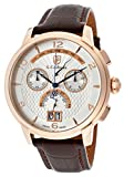 S.Coifman Men's Chronograph Silver Dial Brown Genuine Leather