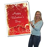 VictoryStore Jumbo Greeting Cards: Giant Valentine's Day Card (hearts) 2' x 3' card with envelope