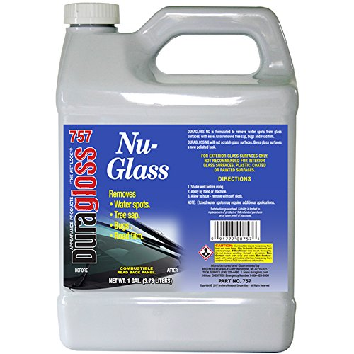Duragloss 757 Automotive Glass Water Spot Remover - 1 Gallon