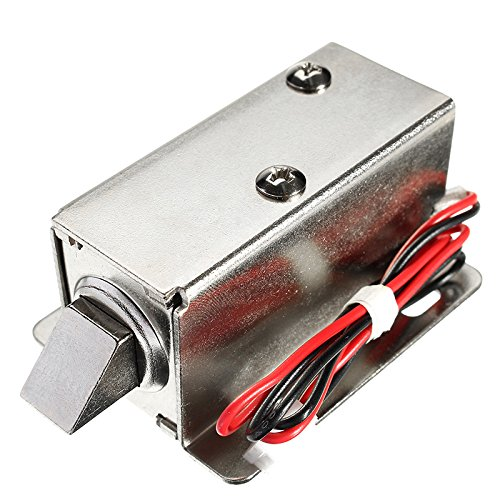 UG LAND INDIA Electric Lock Solenoid Cabinet | Drawer Door Lock | 12V DC 1.1A Small Electric Lock Access Control System…