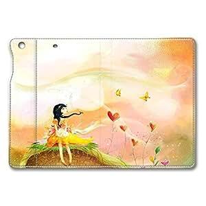 Brain114 iPad Mini Case - Folding Leather Cases for iPad Mini Cartoon Girl Protective Stand Leather Cases for iPad Mini