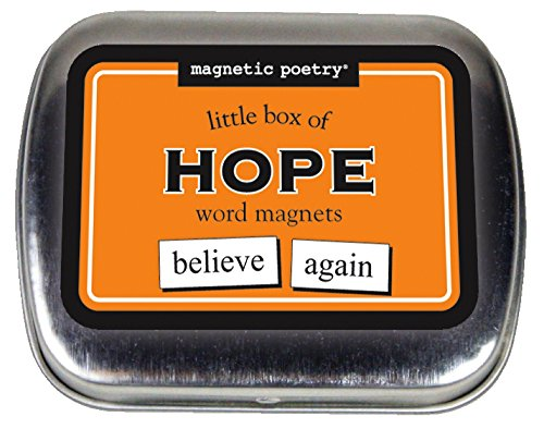 Magnetic Poetry - Little Box of Hope Kit - Words for Refrigerator - Write Poems and Letters on the Fridge - Made in the USA