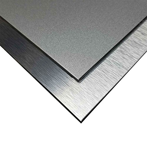 Online Plastic Supply Aluminum Composite Sheet   Sign Panel 1 8  X 24  X 36  Silver Brushed   Silver Glitter