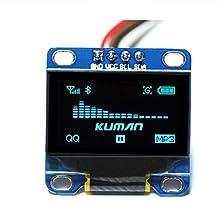 Kuman 0.96 Inch Blue IIC OLED Moudle I2c IIC Serial 128x64 LCD Display for Arduino Raspberry pi KY34-B