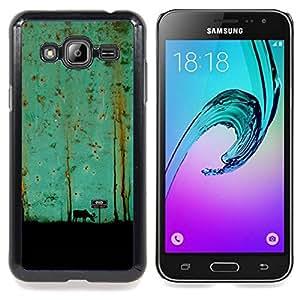 Stuss Case / Funda Carcasa protectora - Trullo Pintura Arte Moose - Samsung Galaxy J3 GSM-J300