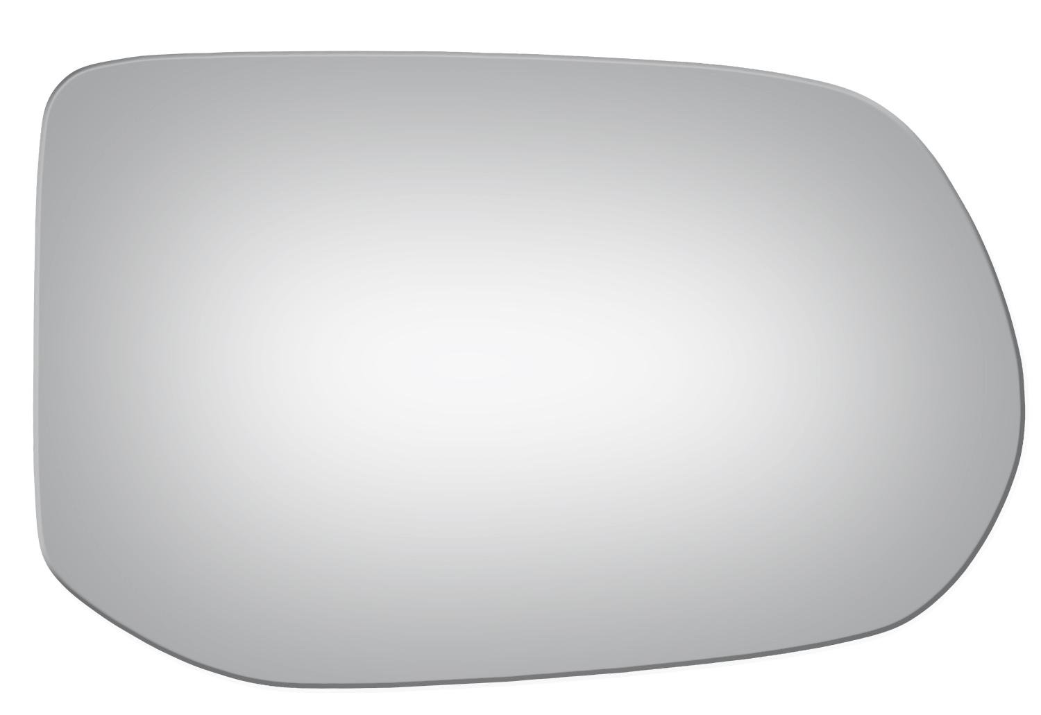 2006 2007 2008 2009 2010 2011 Burco 5173 Convex Right Passenger Side Mirror Glass w//o Backing Plate for Honda Civic 4 Door Only, Excluding Hybrid