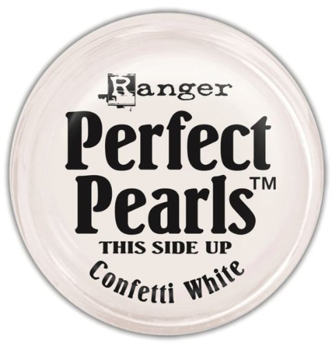 Ranger Perfect Pearls Pigment Powder, 1-Ounce, Confetti White (Pearl Additive Paint)