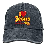 Love Jesus and French Fries Snapback Cotton Navy