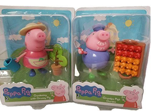 (Peppa Pig Set of 2 ~ Gardening with Granny Pig and Grandpa Pig)