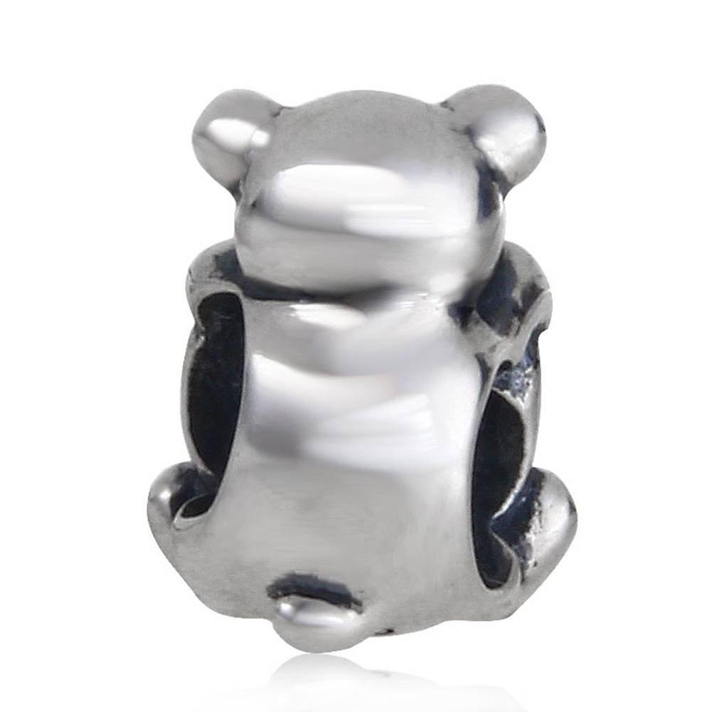 soulbead Plata de ley 925/oso Hug un coraz/ón crystal Charm Australiano Bead para regalos de San Valent/ín