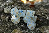 HD Dice-DND Polyhedral Dice Set RPG Jade Dice for