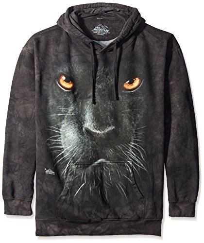 Face Panther (The Mountain Panther Face Hoodie, Medium, Black)