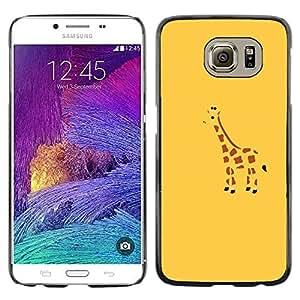 Be Good Phone Accessory // Dura Cáscara cubierta Protectora Caso Carcasa Funda de Protección para Samsung Galaxy S6 SM-G920 // Blue Drawing Minimalist Cute Drawing