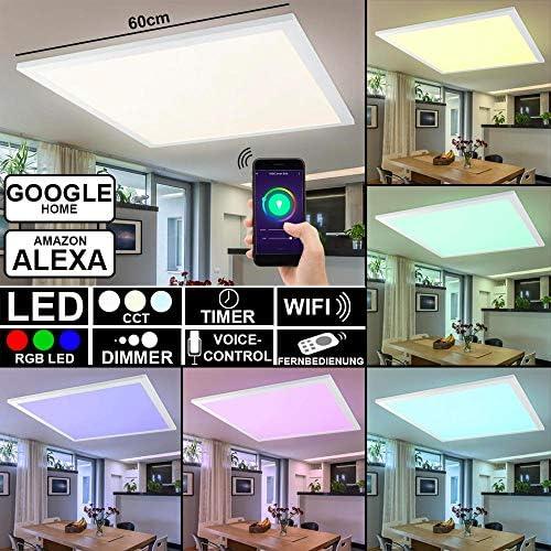 Smart RGB LED Ein Aufbau Decken Panel Alexa Google App FERNBEDIENUNG Lampe dimmbar Globo 41604D3RGBSH