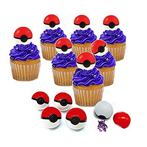 Cupcake Toppers With Surprise Toy Figure Hidden Inside And Pikachu -