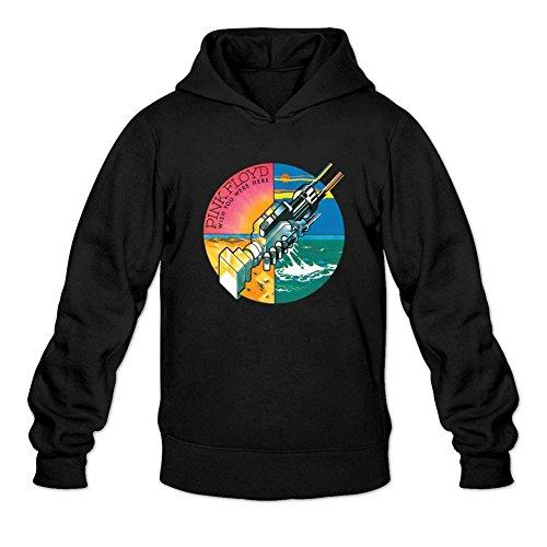 TMILLER Men's Pink Floyd Wish You Were Here Hoodied Sweatshirt Size XL Black
