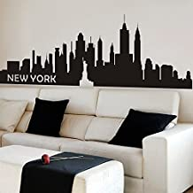 New York City Skyline Wall Decal Vinyl Ctiy Wall Sticekrl New York Wall Art Decor Wall Graphic Home Wall Decoration £¨X-Large,Black)